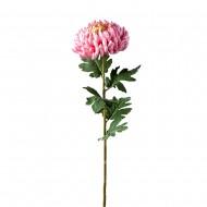 Цветок искусственный розовая Хризантема 90 см