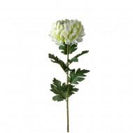 Цветок искусственный белая Хризантема 90 см