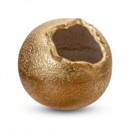 Ваза напольная круглая золото 40х40х40 см