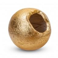 Ваза напольная круглая золото 30х30х30 см