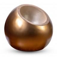 Ваза напольная круглая бронза 75х75х65 см