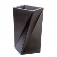 Ваза напольная черная 36х36х60 см