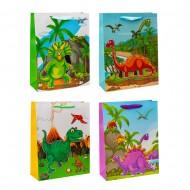 Пакет подарочный 31х40х12 см Динозавры