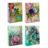 Пакет подарочный Цветы 32х44х110 cм